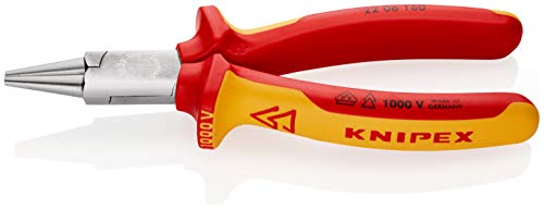 KNIPEX Rundzange 1000V-isoliert (160 mm) 22...