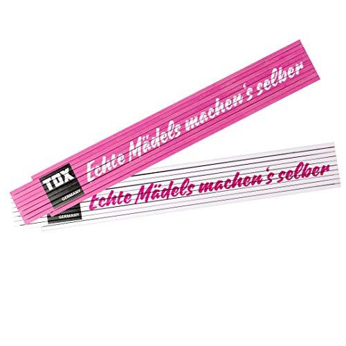 TOX 09969002 Meterstab 2 mtr. pink/weiß, mit...
