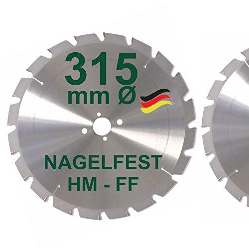 HM Sägeblatt 315 x 30 mm NAGELFEST FF...