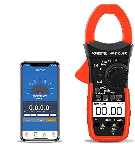 Digital Clamp Meter Stromzange Bluetooth...