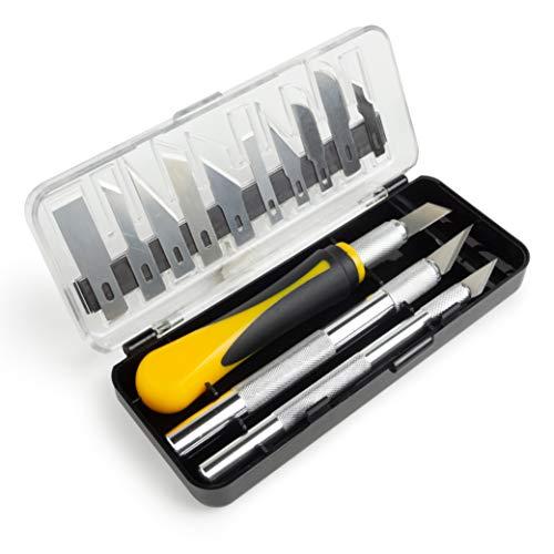 OfficeTree 3X Bastelmesser Skalpell Set 16...