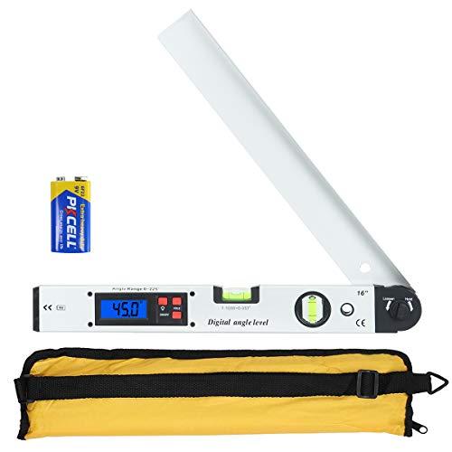Winkelmesser, Orthland Wasserwaage mit LCD...
