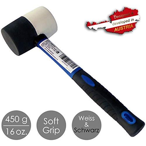 WeLiQu® Gummihammer Schwarz und Weiß, 450...