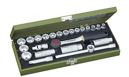 PROXXON Steckschlüsselsatz, Kompaktsatz mit...