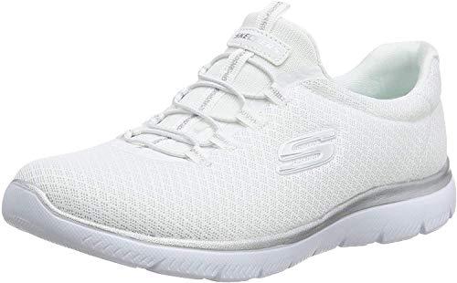 Skechers Women 12980 Low-Top Trainers, White...