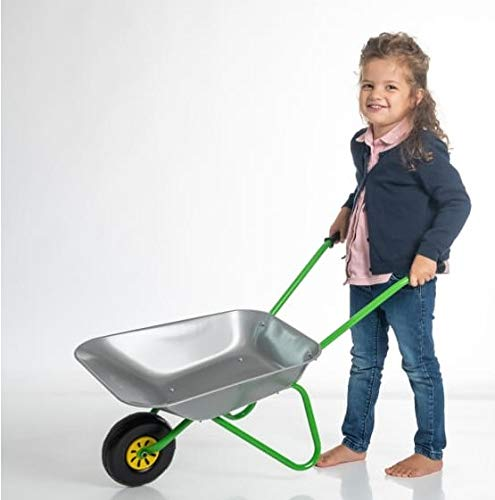 OA Rolly Toys Metallschubkarre silber/grün...