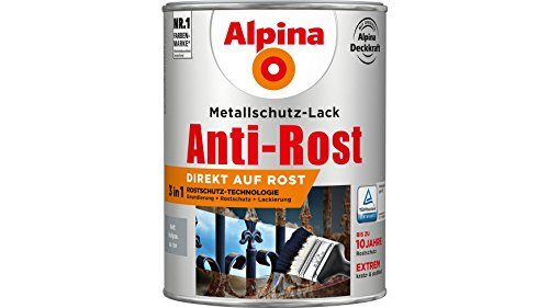 Alpina 2,5 L Metallschutz-Lack, 3in1 Direkt...