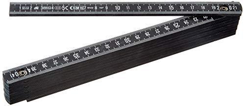 Metrica Glasfaser-Massstab 2 m, schwarz,...