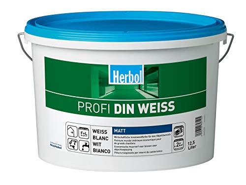 Herbol Profi DIN weiß Wandfarbe Innenfarbe...