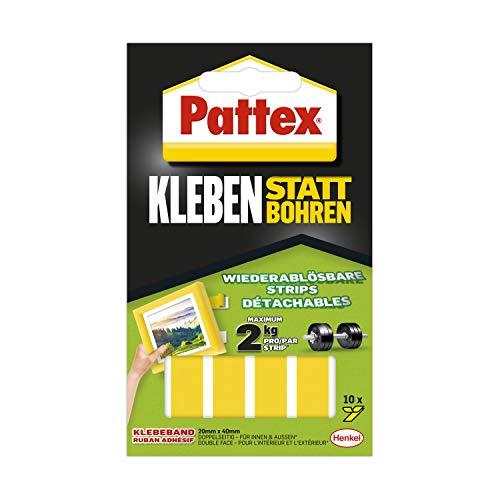 Pattex Kleben statt Bohren Klebe-Strips,...
