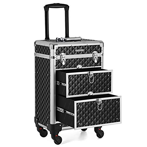 SONGMICS Kosmetikkoffer Trolley,...