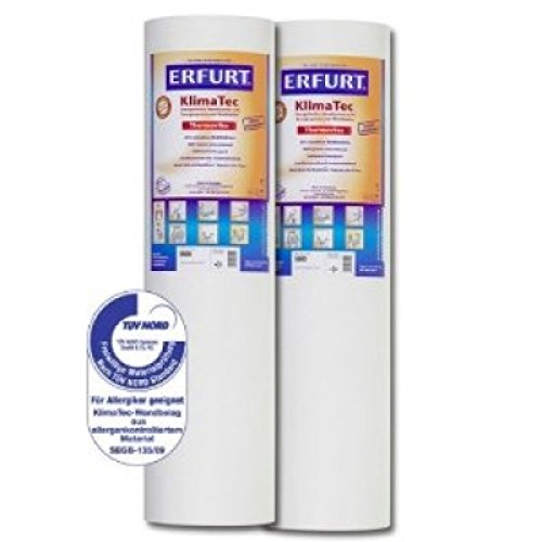 KlimaTec Thermovlies Tapeten Premium Weiß...