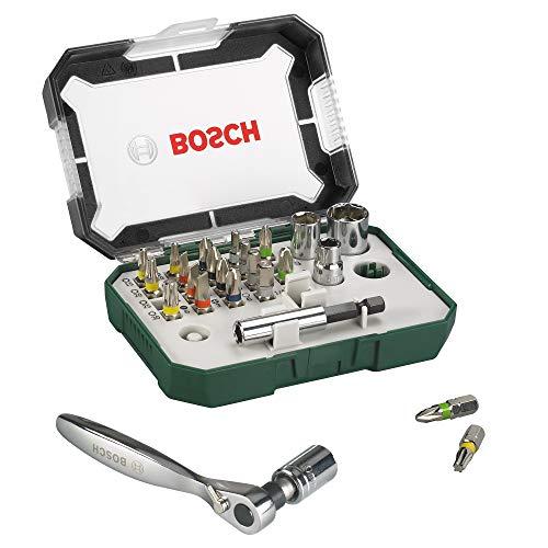 Bosch 26tlg. Schrauberbit- und Ratschen-Set...