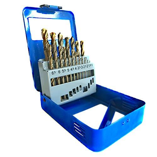 S&R Metallbohrer Set 1,0-10 mm, 19 Stk, DIN...