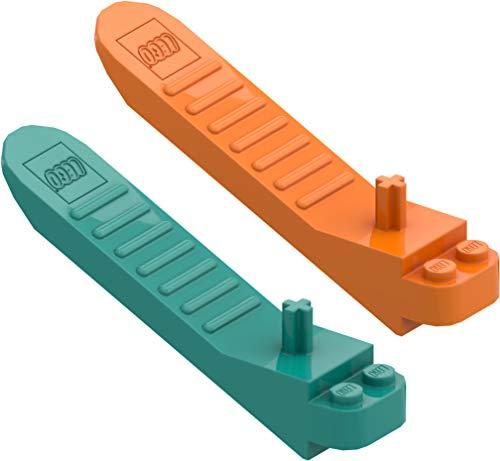 LEGO 2 x System Steinlöser (orange und...