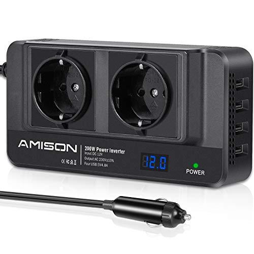 200W KFZ Wechselrichter, Amison...