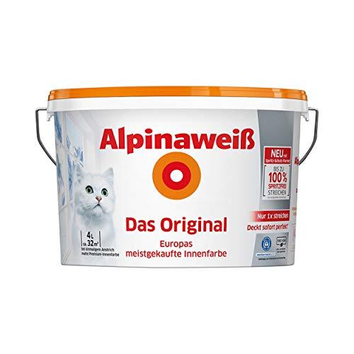 Alpinaweiß DO Spritz-Frei 4 Liter Innenfarbe...