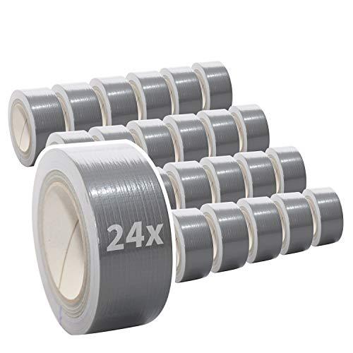 24 Rollen Premium Gewebeband in silber  ...