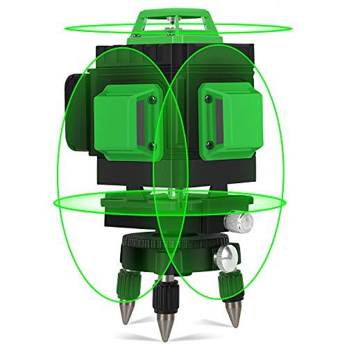 Kreuzlinienlaser Grün 25M, Kraumi 4 X 360°...