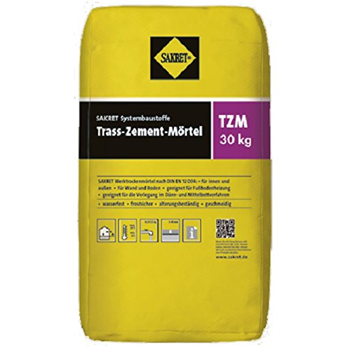 Sakret Trass-Zement-Mörtel TZM 0-4mm grau 30...