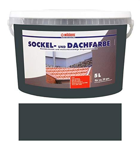 Wilckens 5 L. Sockel- & Dachfarbe, Anthrazit...