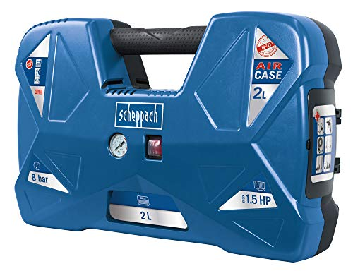 Scheppach Kompressor Air Case (1100W, 2 L, 8...