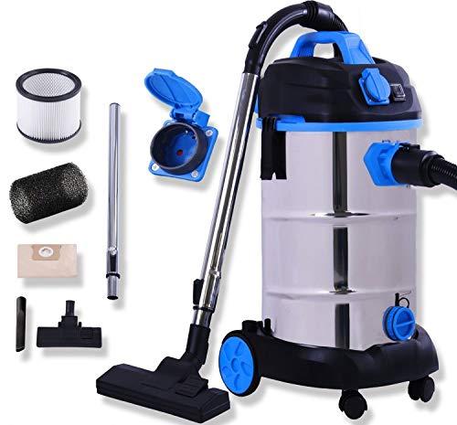 Masko® Industriestaubsauger - blau, 1800Watt...