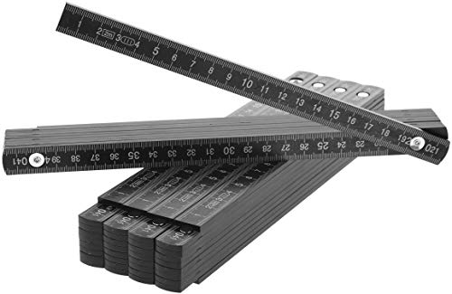 com-four® 5X Zollstock aus Kunststoff - 2...