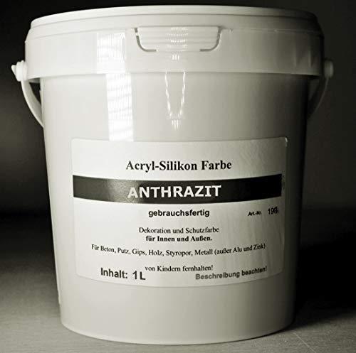 Anthrazit - Beton Farbe - Acryl Silikon 1...