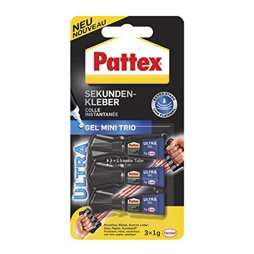 Pattex Sekundenkleber Ultra Gel Mini Trio,...