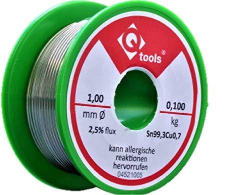Q-tools® 100g Lötzinn mit Flussmittel...