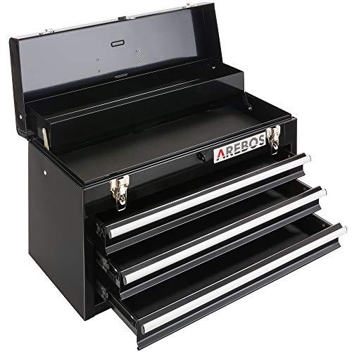 Arebos Werkzeugkoffer mit 3 Schubladen & 2...