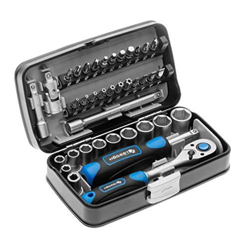 Högert Werkzeugset Werkzeugkoffer –...