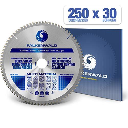 FALKENWALD ® Sägeblatt 250x30 mm - Ideal...