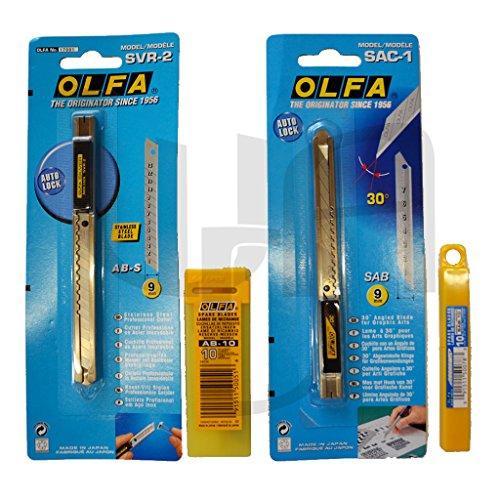 Olfa Profi Cutter Set SAC1/SVR2 (30+45 Grad)...