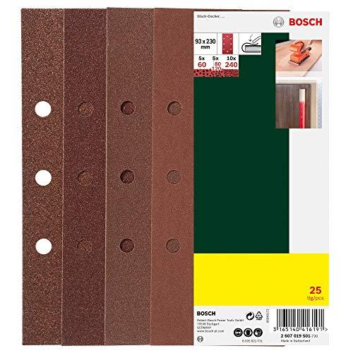 Bosch 25-teiliges Schleifblatt-Set 93 x 230...