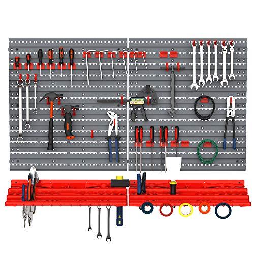 DURHAND Werkzeuglochwand Wandregal 54 TLG...