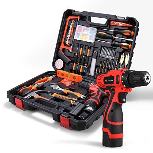HOH-Tech Akku-Bohrhammer Werkzeugsatz,...