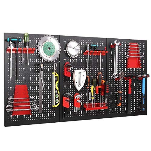 FIXKIT Werkzeuglochwand aus Metall mit 17...