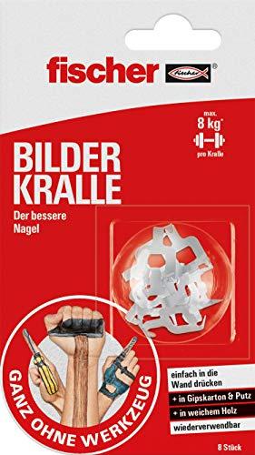 Fischer BILDER KRALLE, Bilderhaken in Weiß,...