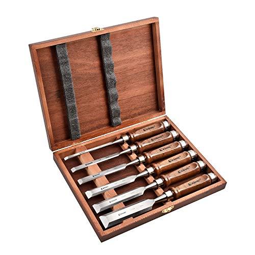 EZARC Stechbeitel Set für Holz, 6-teilig...
