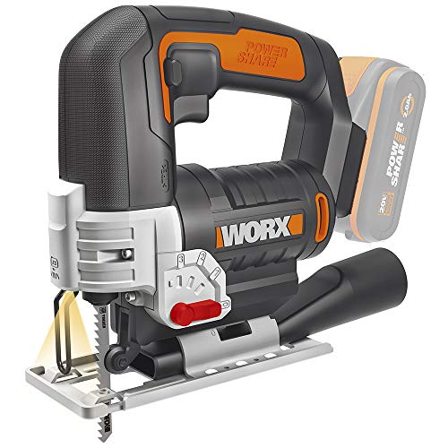 Worx WX543.9 Akku-Pendelhub-Stichsäge –...