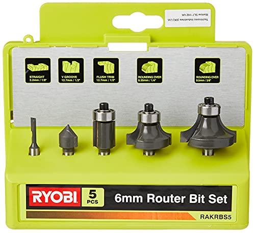 Ryobi 5132003828 Fräsersatz 5-teilig, für...