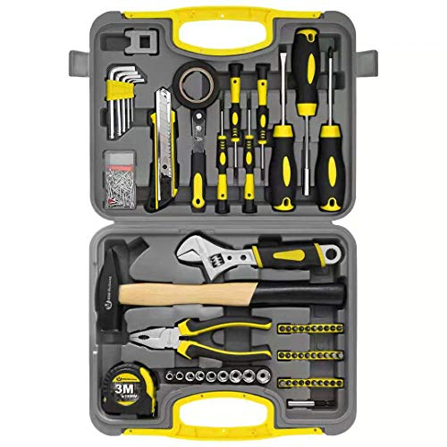 WZG Werkzeug 60-teilig Werkzeugkoffer ideal...