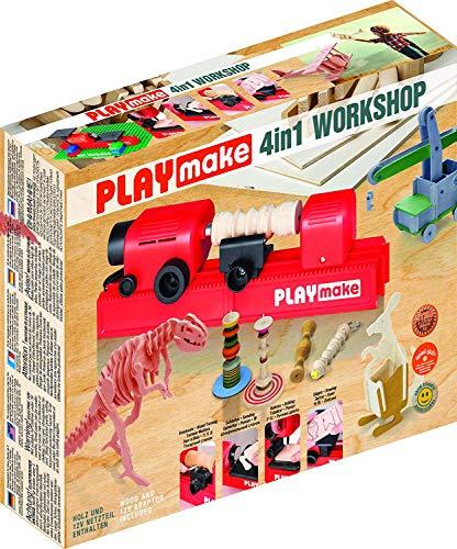 PLAYMAKE - 4in1 Workshop - Werkzeug Kinder -...