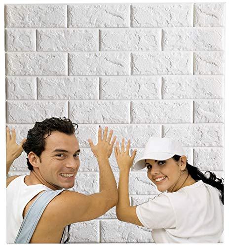 Arthome 3D-Wandpaneele mit weißem...