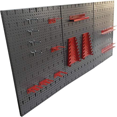 Dreiteilige Werkzeuglochwand aus Metall mit...