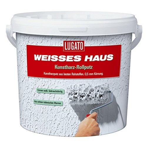 Lugato Weisses Haus Kunstharz Rollputz -...
