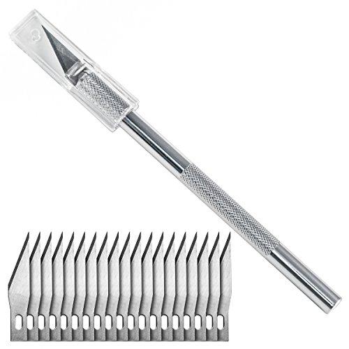 Washati® Bastelmesser mit 20 Skalpell...