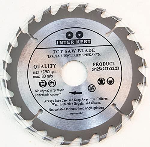 125 mm 24 Zähne Kreissägeblatt für Holz...